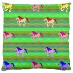 Rainbow Ponies Large Cushion Case (Two Sides)