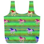 Rainbow Ponies Full Print Recycle Bags (L)