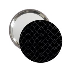 Black And White Grid Pattern 2 25  Handbag Mirrors by dflcprints