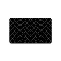 Black And White Grid Pattern Magnet (name Card) by dflcprints