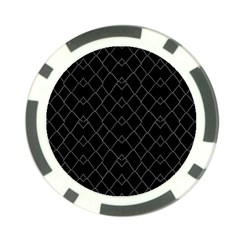 Black And White Grid Pattern Poker Chip Card Guard by dflcprints