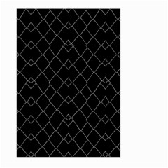 Black And White Grid Pattern Large Garden Flag (two Sides) by dflcprints