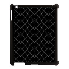 Black And White Grid Pattern Apple Ipad 3/4 Case (black) by dflcprints