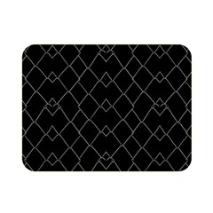Black And White Grid Pattern Double Sided Flano Blanket (mini)  by dflcprints