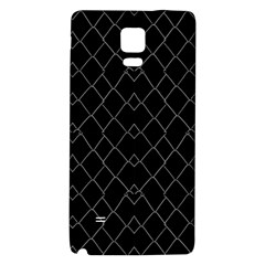 Black And White Grid Pattern Galaxy Note 4 Back Case by dflcprints