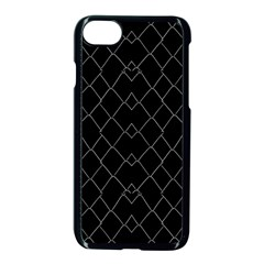 Black And White Grid Pattern Apple Iphone 7 Seamless Case (black) by dflcprints