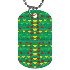 Love Is In All Of Us To Give And Show Dog Tag (one Side) by pepitasart