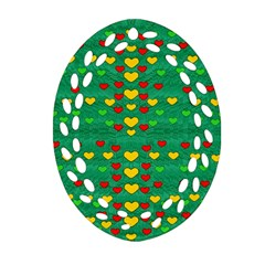 Love Is In All Of Us To Give And Show Oval Filigree Ornament (two Sides) by pepitasart
