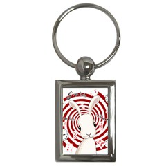 White Rabbit In Wonderland Key Chains (rectangle)