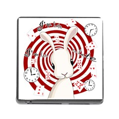 White Rabbit In Wonderland Memory Card Reader (square) by Valentinaart