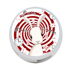 White Rabbit In Wonderland 4 Port Usb Hub (one Side) by Valentinaart