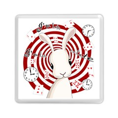 White Rabbit In Wonderland Memory Card Reader (square)  by Valentinaart