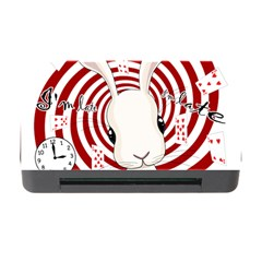 White Rabbit In Wonderland Memory Card Reader With Cf by Valentinaart