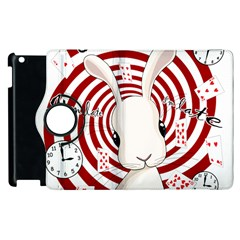 White Rabbit In Wonderland Apple Ipad 3/4 Flip 360 Case by Valentinaart