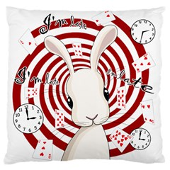 White Rabbit In Wonderland Standard Flano Cushion Case (one Side) by Valentinaart