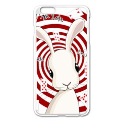 White Rabbit In Wonderland Apple Iphone 6 Plus/6s Plus Enamel White Case by Valentinaart
