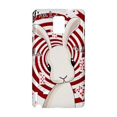 White Rabbit In Wonderland Samsung Galaxy Note 4 Hardshell Case by Valentinaart