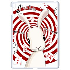White Rabbit In Wonderland Apple Ipad Pro 9 7   White Seamless Case by Valentinaart