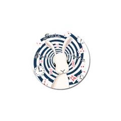 White Rabbit In Wonderland Golf Ball Marker by Valentinaart