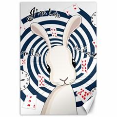 White Rabbit In Wonderland Canvas 20  X 30   by Valentinaart