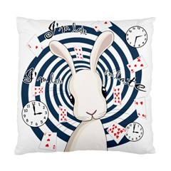 White Rabbit In Wonderland Standard Cushion Case (one Side) by Valentinaart