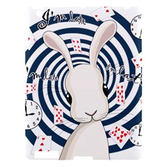 White Rabbit In Wonderland Apple Ipad 3/4 Hardshell Case by Valentinaart