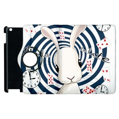 White Rabbit In Wonderland Apple Ipad 2 Flip 360 Case by Valentinaart