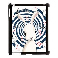 White Rabbit In Wonderland Apple Ipad 3/4 Case (black) by Valentinaart