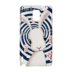 White Rabbit In Wonderland Samsung Galaxy Note 4 Hardshell Case by Valentinaart