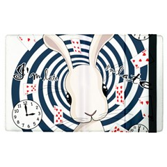 White Rabbit In Wonderland Apple Ipad Pro 12 9   Flip Case by Valentinaart