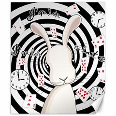 White Rabbit In Wonderland Canvas 8  X 10  by Valentinaart