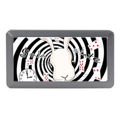 White Rabbit In Wonderland Memory Card Reader (mini) by Valentinaart