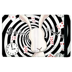 White Rabbit In Wonderland Apple Ipad 2 Flip Case by Valentinaart