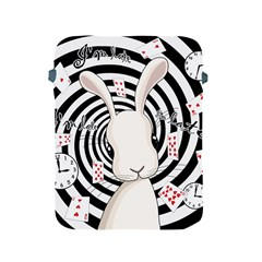 White Rabbit In Wonderland Apple Ipad 2/3/4 Protective Soft Cases by Valentinaart