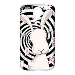 White Rabbit In Wonderland Samsung Galaxy S4 Classic Hardshell Case (pc+silicone) by Valentinaart
