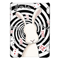 White Rabbit In Wonderland Ipad Air Hardshell Cases by Valentinaart