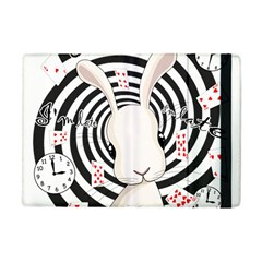 White Rabbit In Wonderland Apple Ipad Mini Flip Case by Valentinaart