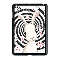 White Rabbit In Wonderland Apple Ipad Mini Case (black) by Valentinaart