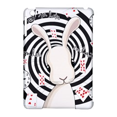 White Rabbit In Wonderland Apple Ipad Mini Hardshell Case (compatible With Smart Cover) by Valentinaart