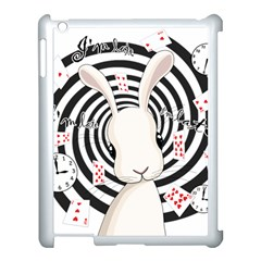 White Rabbit In Wonderland Apple Ipad 3/4 Case (white) by Valentinaart
