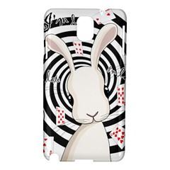 White Rabbit In Wonderland Samsung Galaxy Note 3 N9005 Hardshell Case by Valentinaart