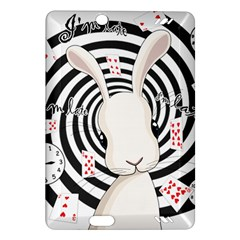 White Rabbit In Wonderland Amazon Kindle Fire Hd (2013) Hardshell Case by Valentinaart