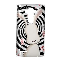 White Rabbit In Wonderland Lg G4 Hardshell Case by Valentinaart