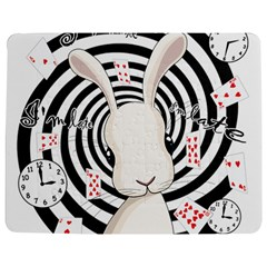 White Rabbit In Wonderland Jigsaw Puzzle Photo Stand (rectangular) by Valentinaart