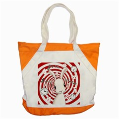 White Rabbit In Wonderland Accent Tote Bag by Valentinaart