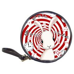 White Rabbit In Wonderland Classic 20 Cd Wallets by Valentinaart