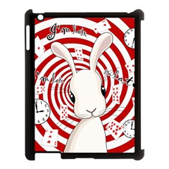White Rabbit In Wonderland Apple Ipad 3/4 Case (black) by Valentinaart