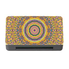 Wood Festive Rainbow Mandala Memory Card Reader With Cf by pepitasart