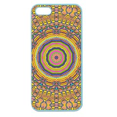 Wood Festive Rainbow Mandala Apple Seamless Iphone 5 Case (color) by pepitasart