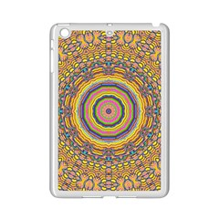 Wood Festive Rainbow Mandala Ipad Mini 2 Enamel Coated Cases by pepitasart